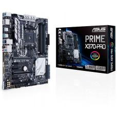 Asus PRIME-X370-PRO AMD X370 ATX motherboard with one-click 5-Way Optimization, GPU-temp sensing for cooler gaming, plus Aura Sync, the world's first synced RGB lighting