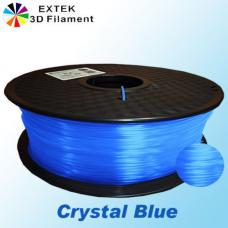Extek 3D Printer Filament 1.75mm PLA 800g Roll - Crystal Blue