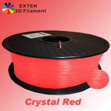 Extek 3D Printer Filament 1.75mm PLA 800g Roll - Crystal Red
