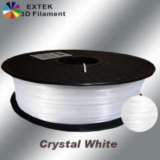 Extek 3D Printer Filament 1.75mm PLA 800g Roll - Crystal White