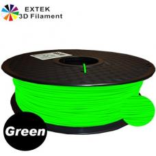 Extek 3D Printer Filament 1.75mm PLA 800g Roll - Green