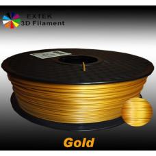Extek 3D Printer Filament 1.75mm PLA 800g Roll - Gold