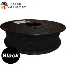 Extek 3D Printer Filament 1.75mm PLA 800g Roll - Black