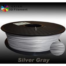 Extek 3D Printer Filament 1.75mm PLA 800g Roll - Silver Gray