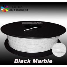 Extek 3D Printer Filament 1.75mm PLA 800g Roll - Black Marble