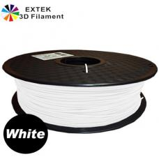 Extek 3D Printer Filament 1.75mm PLA 800g Roll - White