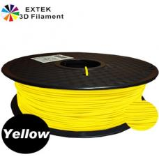 Extek 3D Printer Filament 1.75mm PLA 800g Roll - Yellow