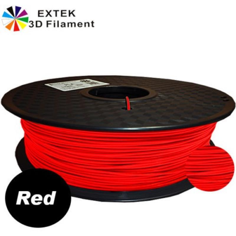 Extek 3D Printer Filament 1.75mm TPE 800g Roll - Red