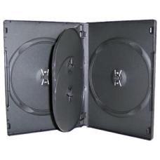 Black DVD Cases Holds 4 (14mm) 100pk