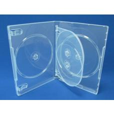 Clear DVD Cases Holds 4 (14mm) 100pk