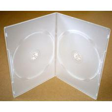 Clear Slim Double DVD Cases (7mm) 100pk