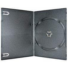 Black Super Slim Single DVD Cases (4mm) 100pk