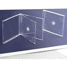 CD Jewel Case Standard Double Clear (10.4mm) 100pk