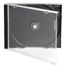 CD Jewel Case Standard Single Black (10.4mm) 100pk