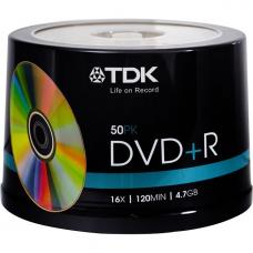 TDK 16x DVD+R 4.7GB Gold 50pk Spindle
