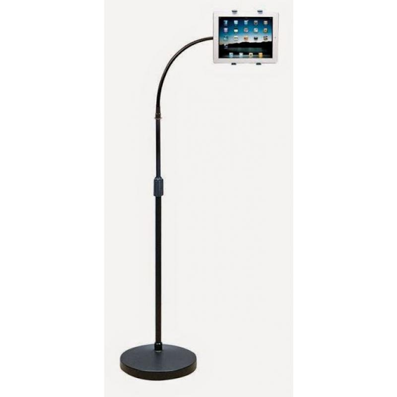 Aidata US-2115WF Universal iPad Tablet Floor Stand with Flexible Gooseneck Arm