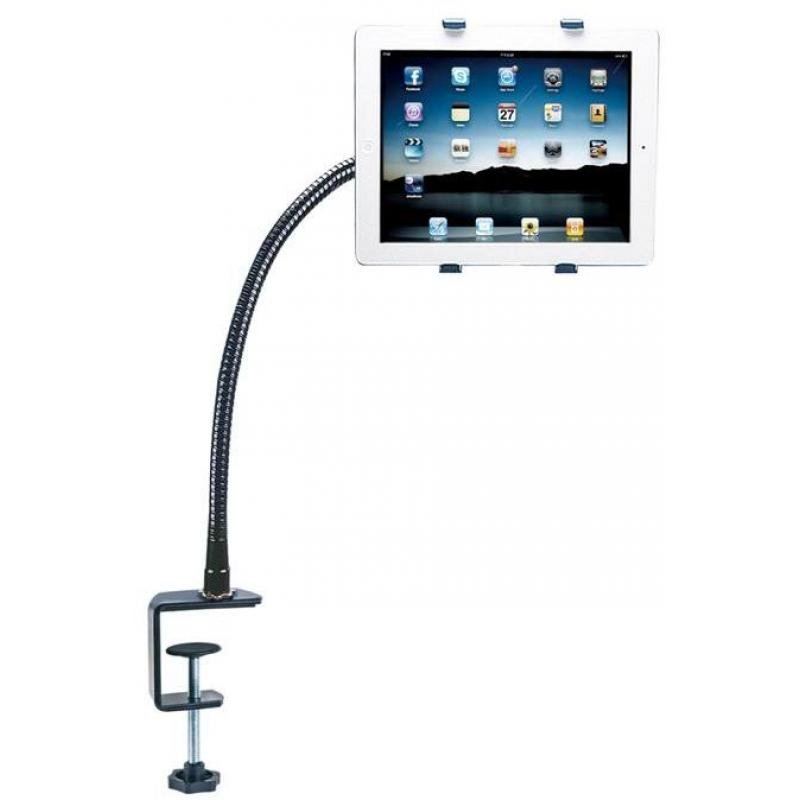 Aidata US-2116CF Universal iPad Tablet Gooseneck Desk Mount Stand with Swivel