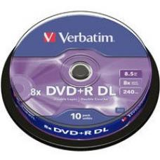 Verbatim 43666 DVD+R DL 8.5GB 8x, 10 Pack Spindle  43666