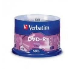 Verbatim DataLife DVD+R, 4.7GB Disc, 50 Pack, Spindle, 16x  95037