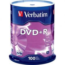 Verbatim 95098 DVD+R 4.7GB 100 Pack Spindle, 16x  95098