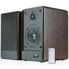Microlab SOLO5C GAMER's Audio Speaker, RMS power: 80 Watt (40 Watt *2), Wireless remote control, High quality sound and full range spectrum (Brown) SOLO5C